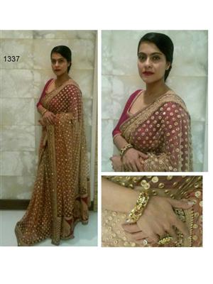 Sri Trendz Brown Net Saree