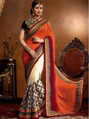 Sri Trendz Multicolor Lace Pedding Saree