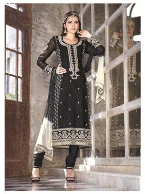 Ethnic Culture 1342-28835 Black Women Straight Salwar Suit