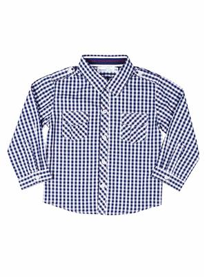 ShopperTree 1346 Blue and white Boy Casual Shirt