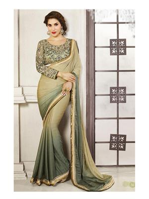 Sri Trendz Green Designer Saree