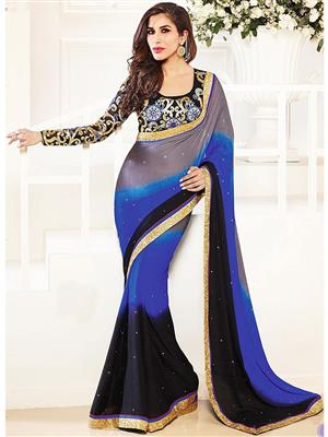 Sri Trendz Multicolor Saree