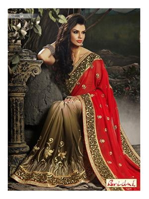 Sri Trendz Red Saree