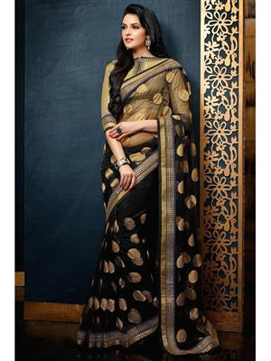 Sri Trendz Black Saree