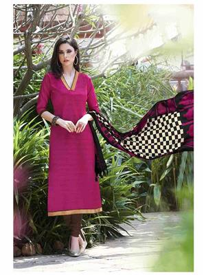 Ethnic Culture 1373-29619 Pink Women Dress Material