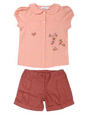 ShopperTree 1379 Maroon Girl Dress