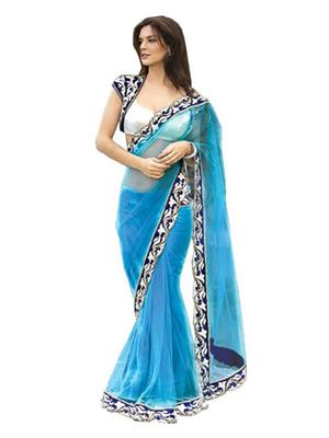 Satya Sita 137 Blue Women Saree