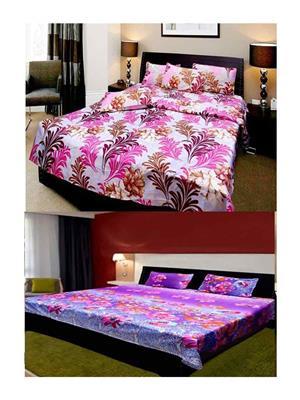 Sai Arpans 1411-138  Double Bedsheet  Combo (Set of 2)
