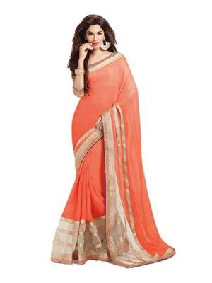 Satya Sita 141 Orange Women Saree