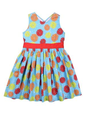 ShopperTree ST-1420 Multicolored Girl Dress