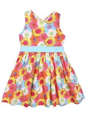 ShopperTree ST-1421 Multicolored Girl Dress