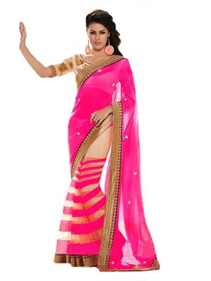 Satya Sita 142 Pink Women Saree