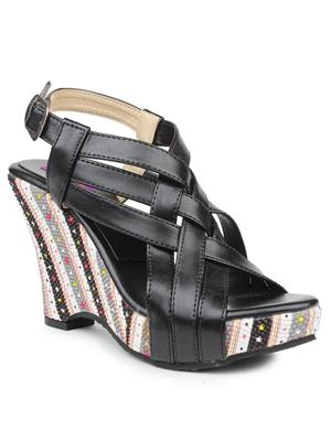 FIORELLA 1430-BLACK Women Wedges