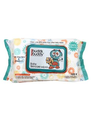 Buddsbuddy 144001 White Baby Skincare Wet Wipes