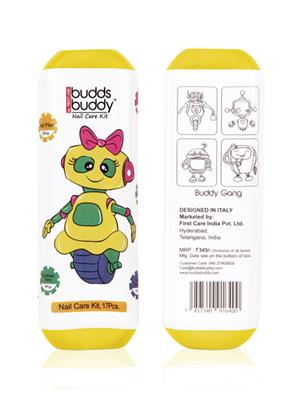 Buddsbuddy 144064 Yellow Nailcare Kit Set Of Pack 17
