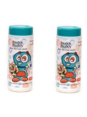 Buddsbuddy 144103 White Baby Skincare Wet Wipes Set Of 2