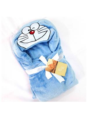 Buddyboo 145001 Blue Cartoon Doremon Baby Bath Towel