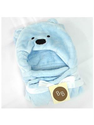 Buddyboo 145002 Light Blue Cartoon Teddy Baby Bath Towel