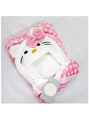 Buddyboo 145005 Baby Pink Cat Bath Towel