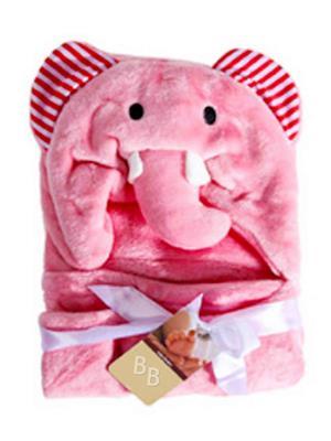 Buddyboo 145006 Pink Elephant Baby Bath Towel