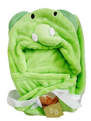 Buddyboo 145007 Light Green Elephant Baby Bath Towel