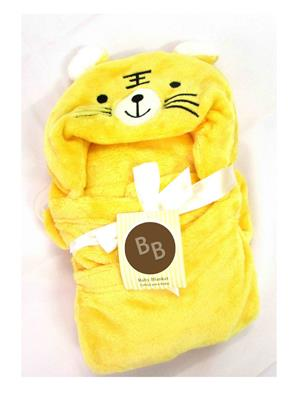 Buddyboo 145009 Yellow Cat Baby Bath Towel