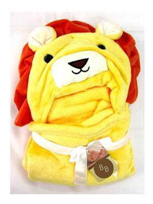 Buddyboo 145010 Yellow Loin Baby Bath Towel