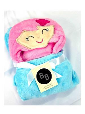 Buddyboo 145014 Sky Blue-Pink-Purpile Baby Bath Towel