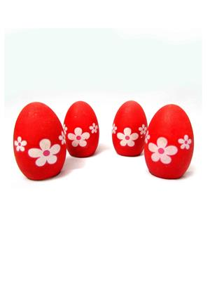 Buddyboo 145047 Red Grass Growing Egg Set Of 4