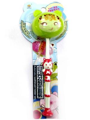 Buddyboo 145062 Green Animal Kids Toothbrush Holder Set Of 4