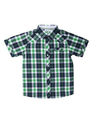 ShopperTree ST-1457 Green Boy Casual Shirt
