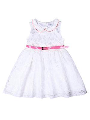 ShopperTree ST-1464 White Girl Peplum Dress