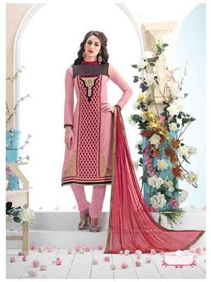 Ethnic Culture 1469-31004 Pink Women Salwar Suit