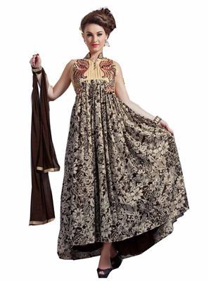 Rahi Fashion 147 Beige Women Anarkali Suit