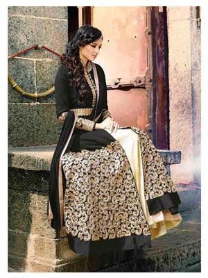 Ethnic Culture 1482-34199 Black Women Anarkali Salwar Suit