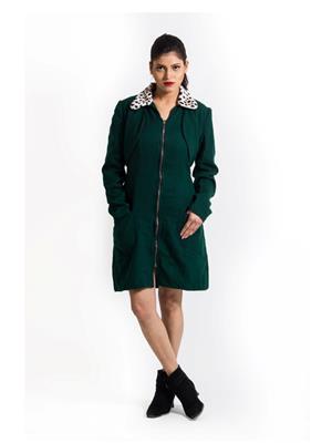 Fbbic 15006 Green Women Coat