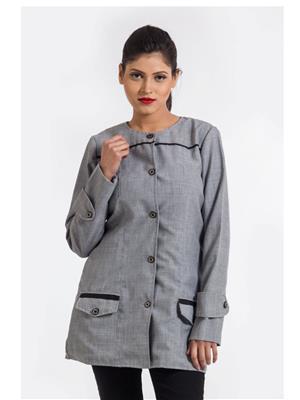 Fbbic 15008 Grey  Women Coat