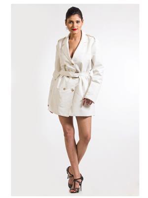 Fbbic 15037 White Women Coat