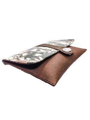 Walletmania 150411B Classic Brown Fancy Women Hand Clutch