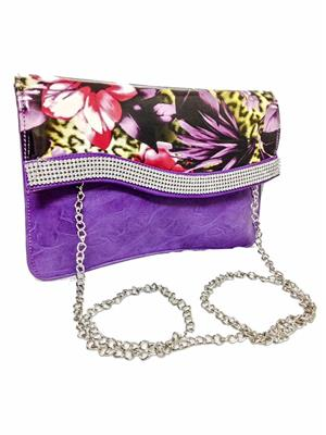 Walletmania 150412B Lovely Violet Fashionable Women Hand Clutch