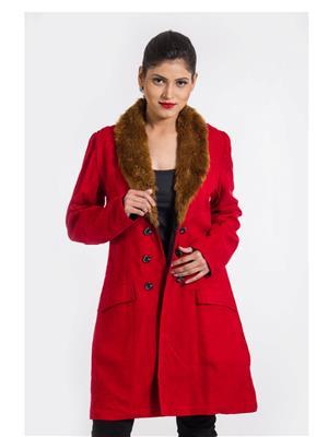 Fbbic 15043 Red Women Coat
