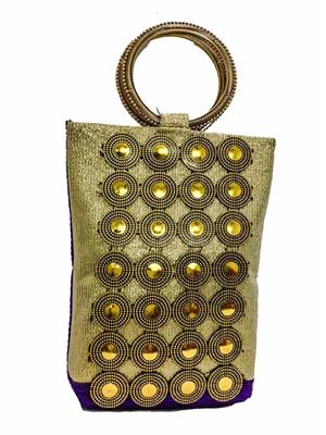 Walletmania 15095C Purple Designer Potli