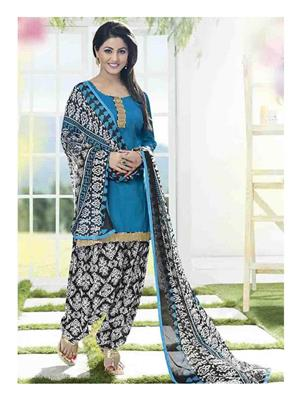 Ethnic Culture 1566-32347 Blue Women Dress Material