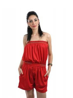 Fbbic 16001 Red Women Jumpsuit