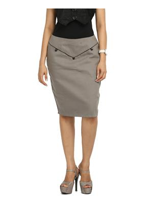 Fbbic 16040 Grey  Women Skirt