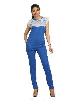 Fbbic 16122 Blue Women Jumpsuit