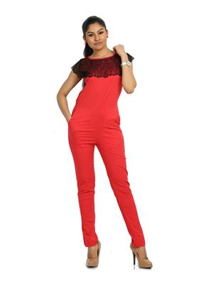 Fbbic 16125 Red Women Jumpsuit