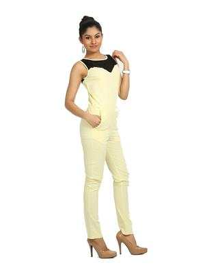 Fbbic 16127 Yellow Women Jumpsuit