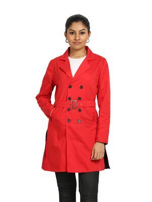 Fbbic 16136 Red Women Coat