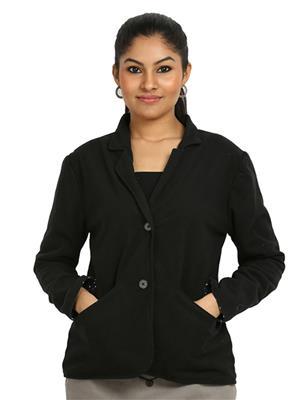 Fbbic 16148 Black  Women Coat